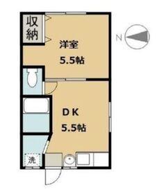 中村アパート2階Fの間取り画像