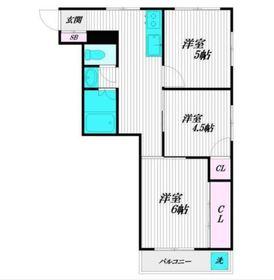 ニュー天沼マンション1階Fの間取り画像