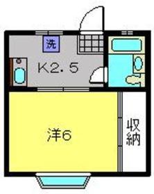 シャングリラ壱番館2階Fの間取り画像