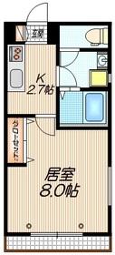 メゾン Tokoha トコハ2階Fの間取り画像