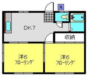 ハイムカサハラ1階Fの間取り画像
