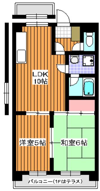 グリーンハイツ田柄間取図