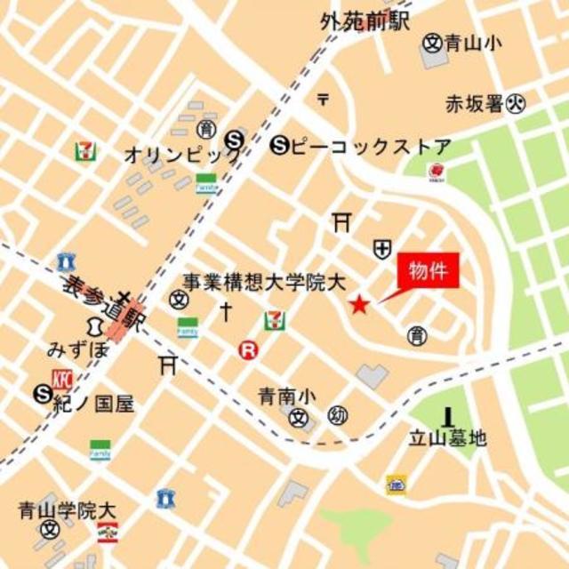 ジオ南青山案内図
