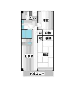 ブリュンヒルトコミヤ2階Fの間取り画像