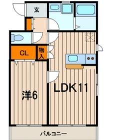 蒔田駅 徒歩2分2階Fの間取り画像