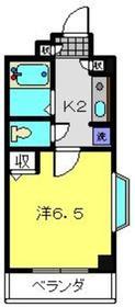 プラザ桜木町6階Fの間取り画像