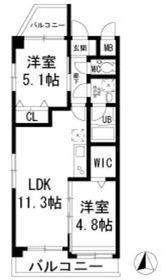 シナーラ上野毛2階Fの間取り画像