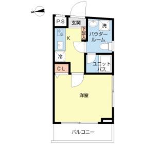 スカイコート牛込神楽坂2階Fの間取り画像