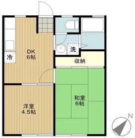 海老名駅 バス15分「綾瀬中原」徒歩3分1階Fの間取り画像