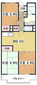 エーデルハイム1号棟1階Fの間取り画像