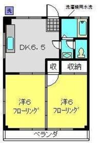 今井ビル2階Fの間取り画像