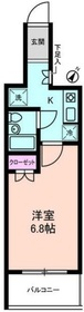 Supreme Tsukishima1階Fの間取り画像