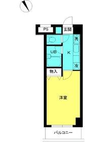 スカイコート文京小石川第34階Fの間取り画像