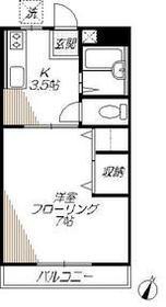 伊藤ハイツ2階Fの間取り画像
