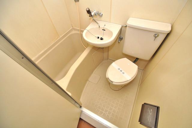 ラフォーレ菱屋西Ⅱ シャワー一つで水回りが掃除できて楽チンです