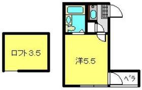 カーサ重松2階Fの間取り画像