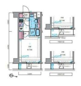 ジェノヴィア横浜鶴見市場スカイガーデン2階Fの間取り画像