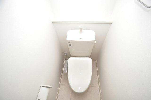 メゾン・ソレイユ長栄寺 清潔感のある爽やかなトイレ。誰もがリラックスできる空間です。
