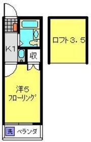 オーパス1二俣川2階Fの間取り画像
