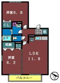 サンコート3番館2階Fの間取り画像