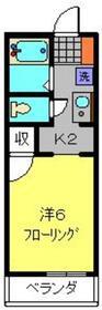 弘明寺駅 徒歩5分2階Fの間取り画像