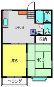 サニーハイツひがしC2階Fの間取り画像