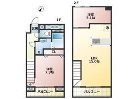 大倉山駅 徒歩6分1階Fの間取り画像