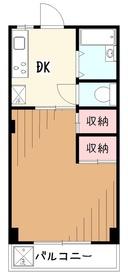 アイ・ジー・コーポ久米川3階Fの間取り画像