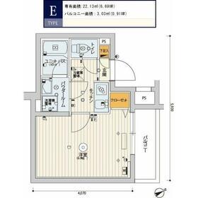 スカイコートパレス溝の口2階Fの間取り画像