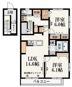 (仮称)横川町・Bメゾン2階Fの間取り画像