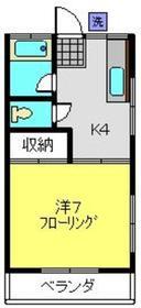 あさひ荘2階Fの間取り画像