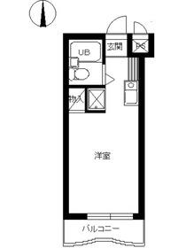 スカイコート新宿落合第43階Fの間取り画像