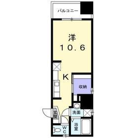 メゾン・日本橋浜町6階Fの間取り画像