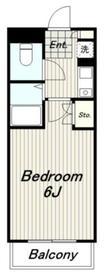 松本ビル4階Fの間取り画像