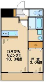 クレールコート1階Fの間取り画像