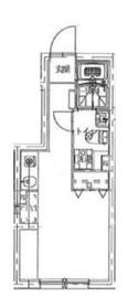 牛込神楽坂駅 徒歩14分3階Fの間取り画像