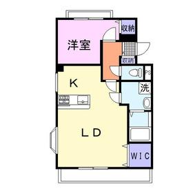 桑原ビル弐番館4階Fの間取り画像