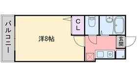 ルピナス西新8階Fの間取り画像