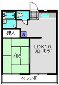 Kハイム2階Fの間取り画像