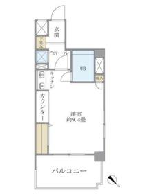 東建シティハイツ鶴見中央6階Fの間取り画像