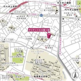 クリケットヒル富ヶ谷案内図