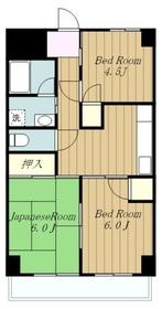 相模原昭和ビル2階Fの間取り画像