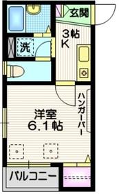 へーベル南蒲田3階Fの間取り画像