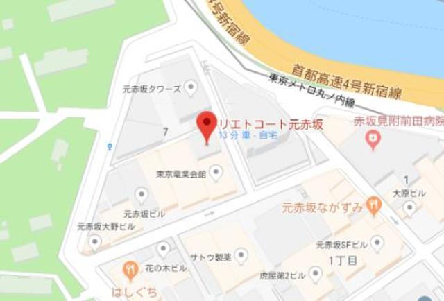 リエトコート元赤坂案内図