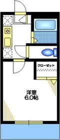 メゾン・ド・レーヴ2階Fの間取り画像