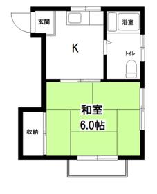 Kコーポ2階Fの間取り画像