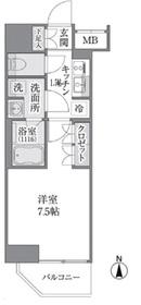 Brillia ist 上野御徒町10階Fの間取り画像