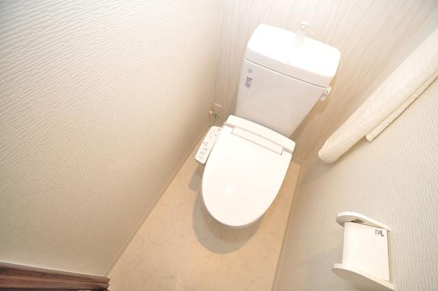 グランパシフィック今里公園 白くてピカピカのトイレですね。癒しの空間になりそう。