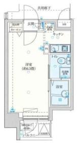 バージュアル横濱鶴見II4階Fの間取り画像