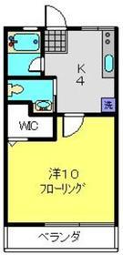 シティハイムホソノD2階Fの間取り画像